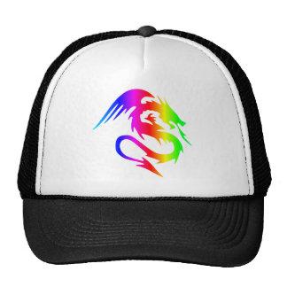 Dragón 4 del arco iris gorras de camionero