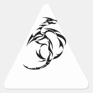 Dragón #5 pegatina triangular