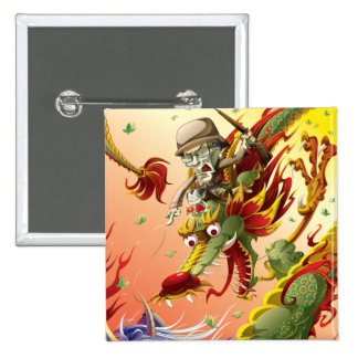 Dragon-9 Pinback Buttons