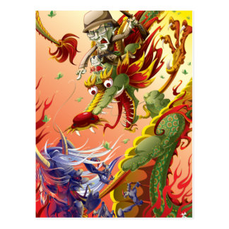 Dragon-9 Tarjeta Postal