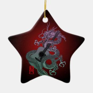 Dragon aco 01 Double-Sided star ceramic christmas ornament