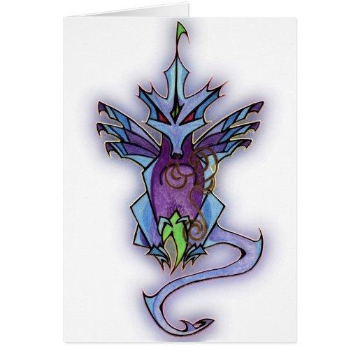 Dragón afortunado tarjeta de felicitación