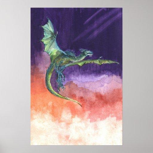 Dragón altísimo póster