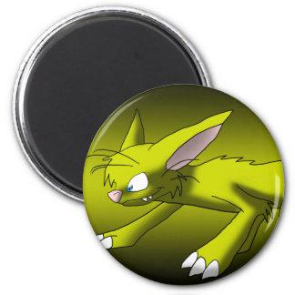 Dragón amarillo del gato imanes