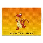 Dragón amarillo-naranja tarjeta