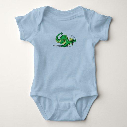 Dragón amistoso juguetón lindo body para bebé