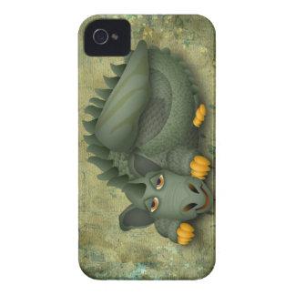 dragón amistoso verde Case-Mate iPhone 4 fundas
