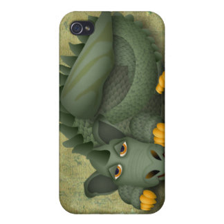 dragón amistoso verde iPhone 4/4S funda