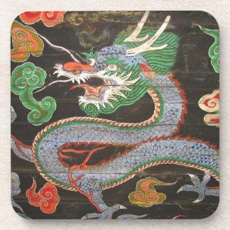 Dragon Ancient Seoul South Korean Art Namdaemun Beverage Coaster