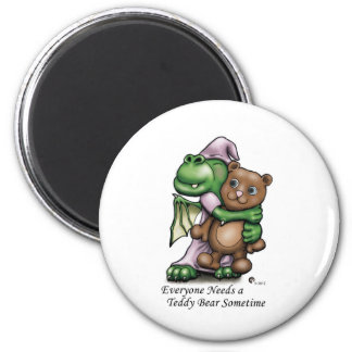 Dragon and Bear Frdige Mag 2 Inch Round Magnet