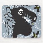 Dragon and bee mousepad