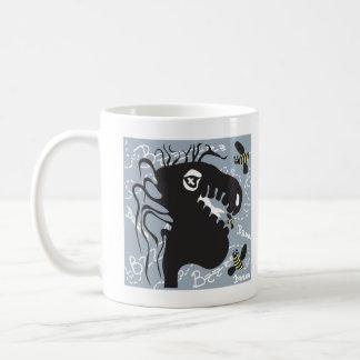 Dragon and bee white mug
