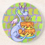 Dragon and Birthday Cake Coaster