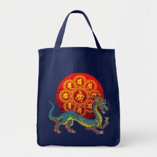 dragon and bonji tote bag