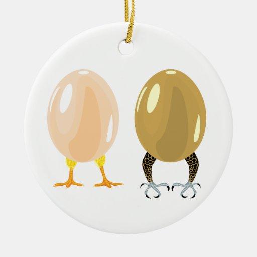 Dragon and chicken eggs Ornament