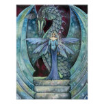 Dragon and Fairy Poster Print by Molly Harrison
