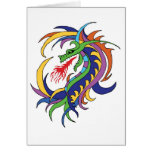 Dragon and  fire greeting cards