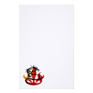 Dragon and Flame Stationery