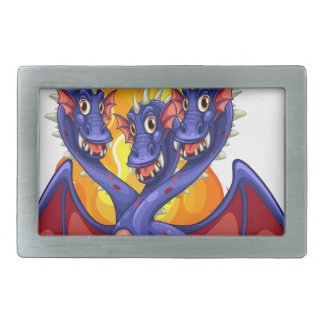 Dragon and flames belt buckle