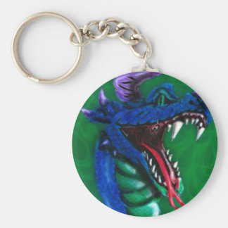 dragon and flames keychain