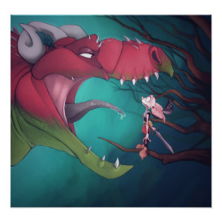 Dragon and Goblin Poster