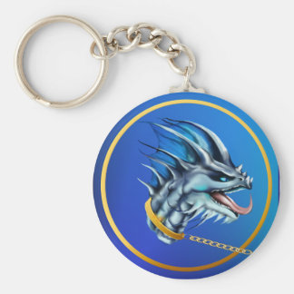 Dragon and Gold Chain Keychain