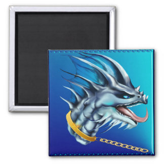 Dragon and Gold Chain Magnet