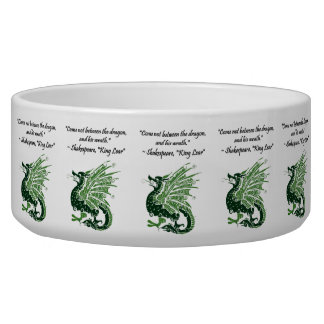 Dragon and His Wrath Shakespeare King Lear Cartoon Bowl