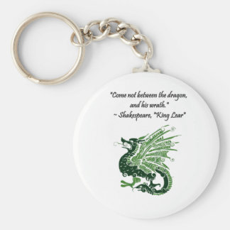 Dragon and His Wrath Shakespeare King Lear Cartoon Keychain
