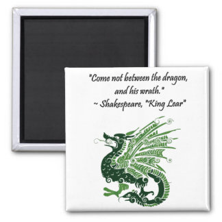 Dragon and His Wrath Shakespeare King Lear Cartoon Refrigerator Magnet