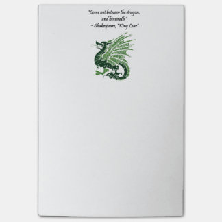 Dragon and His Wrath Shakespeare King Lear Cartoon Post-it® Notes