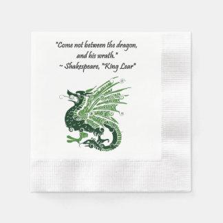 Dragon and His Wrath Shakespeare King Lear Cartoon Disposable Napkin