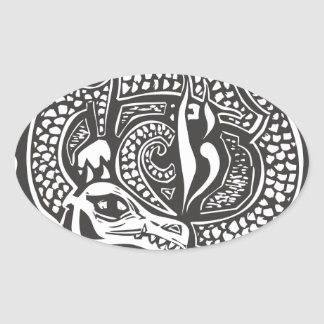 Dragon and Horde Oval Sticker