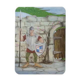 Dragon and Knight Castle Magnet