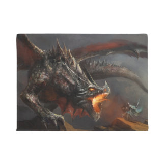 Dragon and Knight Doormat