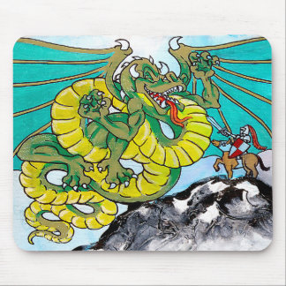 dragon and knight fight mouse pad