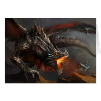 Dragon and Knight Note Card