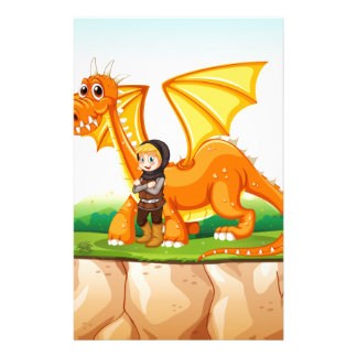 Dragon and knight stationery