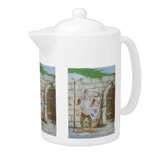 Dragon and Knight Teapot