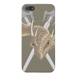 Dragon and long swords cover for iPhone SE/5/5s