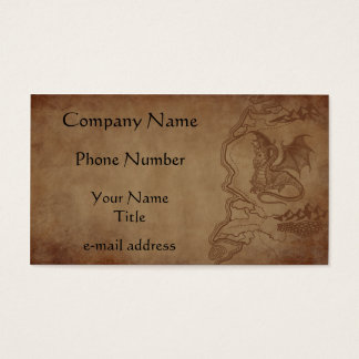 Dragon and Map Business Card