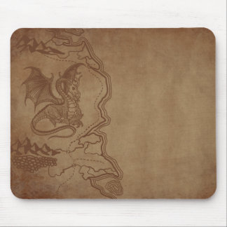 Dragon and Map Mouse Pad