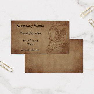Dragon and Map Quest Business Card