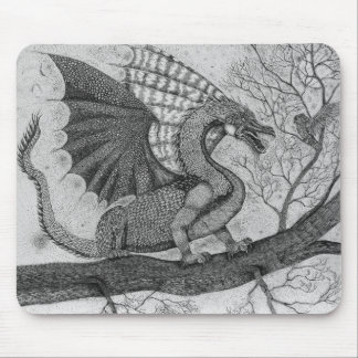 Dragon and Owl Mousepad
