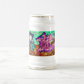 Dragon and pearl beer stein