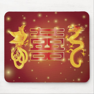Dragon and Phoenix Double Happiness Mousepad
