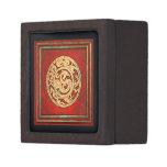 Dragon and Phoenix  Emblem Red Premium Jewelry Boxes