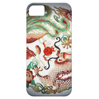Dragon and Phoenix Stencil iPhone 5 Cases