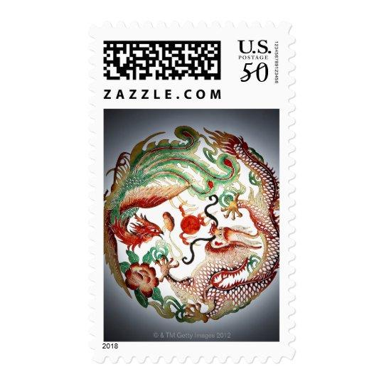 Dragon and phoenix stencil postage