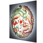 Dragon and phoenix stencil stretched canvas prints